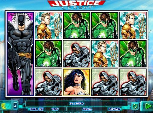 Комбінація символів в Justice League